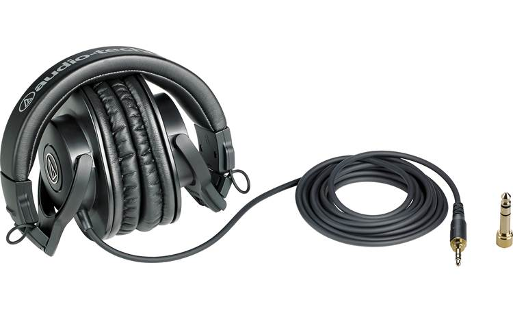 Audio-Technica ATH-M30x Shown with extra-long cable and 1/4