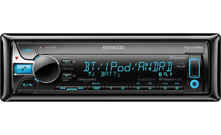 Kenwood Excelon KDC-X599 Pair your smartphone and get improved audio quality using Bluetooth with aptX