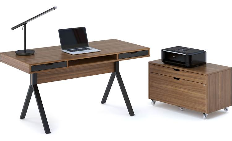BDI Modica™ 6341 Shown with Modica 6316 file pedestal (file pedestal and office accessories not included)