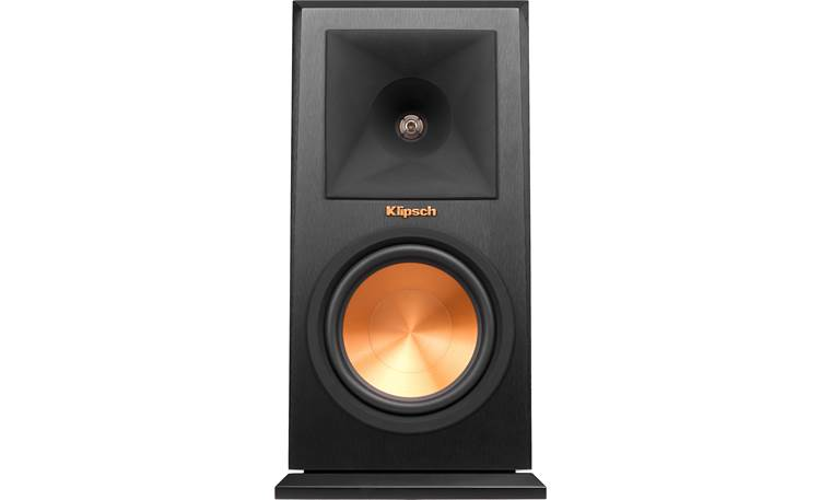 Klipsch Reference Premiere RP-160M Direct front view with grille off (Ebony)