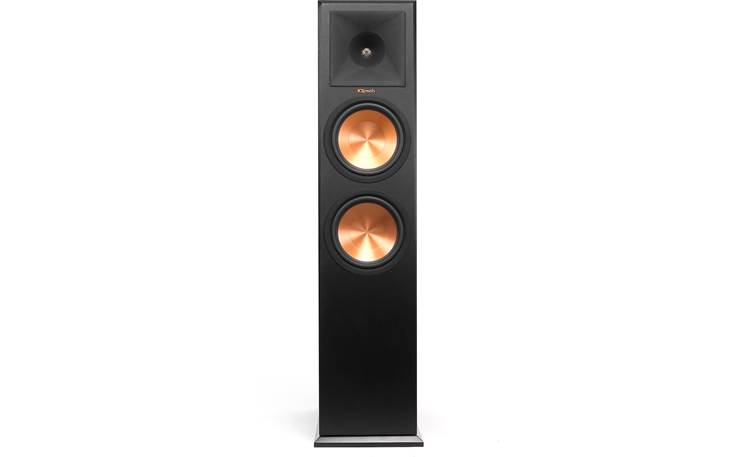Klipsch Reference Premiere RP-280F Direct front view with grille off (Cherry)