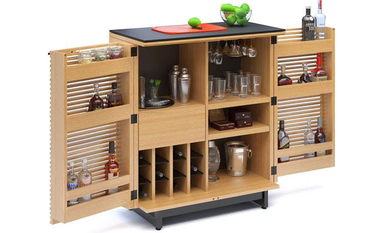 BDI Corridor Bar 5620 White Oak (bottles and accessories not included)