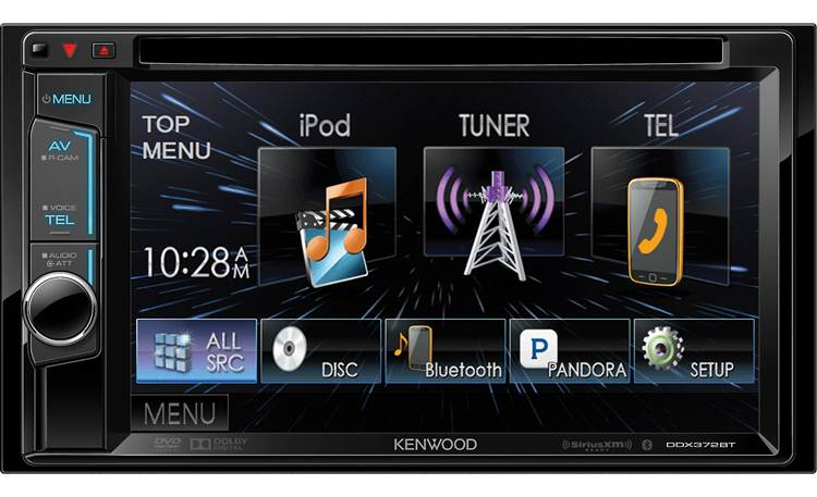 Kenwood DDX372BT Simple touchscreen controls let you get to your favorite music quickly