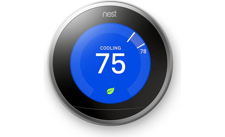Google Nest Learning Thermostat 3rd Generation Silver Smart Learning Thermostat At Crutchfield