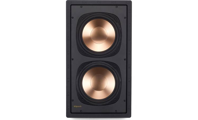 Klipsch RW-5802 II + RSA-500 Subwoofer shown with grille removed