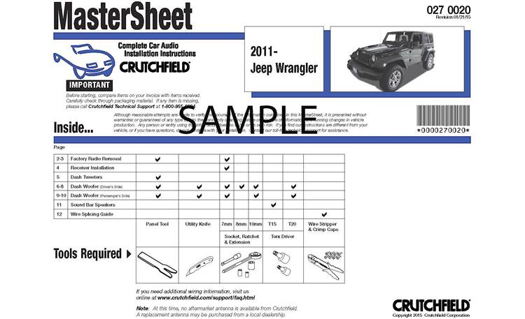 Crutchfield Vehicle-specific Instructions Front