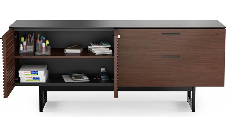BDI Corridor 6529 Chocolate Stained Walnut - wide storag compartment (office accessories not included)