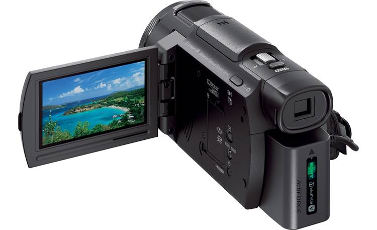Sony Handycam® FDR-AX33 Make sure your shot is framed the way you want it