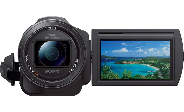 Sony Handycam® FDR-AX33 Flip the screen around so you can be in the shot