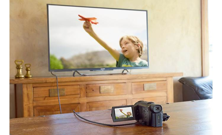 Sony Handycam® FDR-AX33 Included HDMI cable lets you play back on your big-screen TV