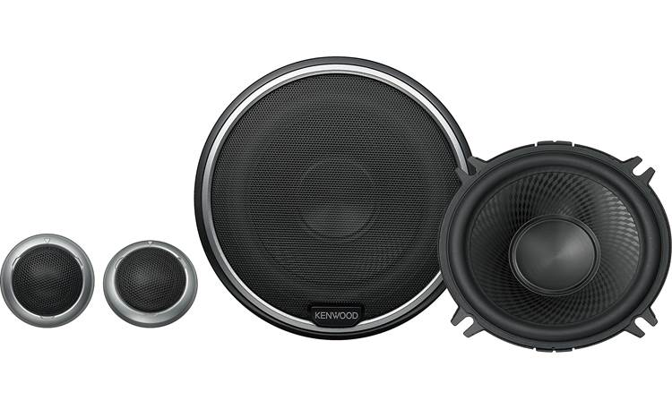Kenwood KFC-P510PS Kenwood builds inline crossovers into the tweeters for a balanced sound and easier installation.