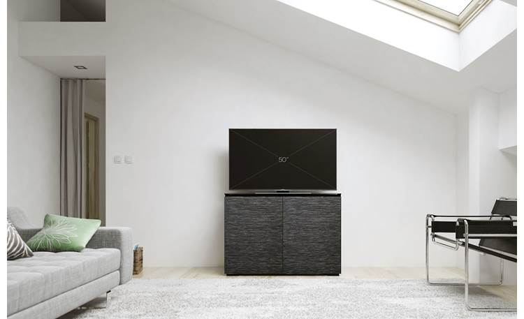 Salamander Designs Chameleon Collection Chicago 323 Textured black oak doors (TV not included)