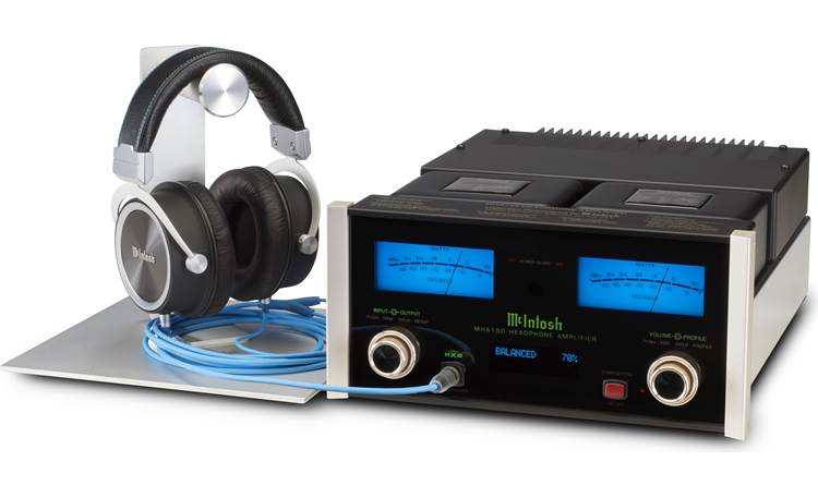 McIntosh MHA150 Maximizes performance of audiophile headphones like the McIntosh MHP1000 closed-back over-ear headphones (sold separately)