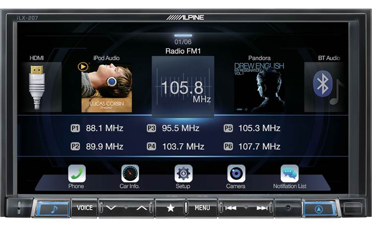Alpine iLX-207 digital media receiver