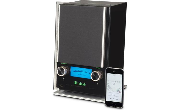McIntosh RS100 DTS Play-Fi lets you play music wirelessly from your smartphone (not included)