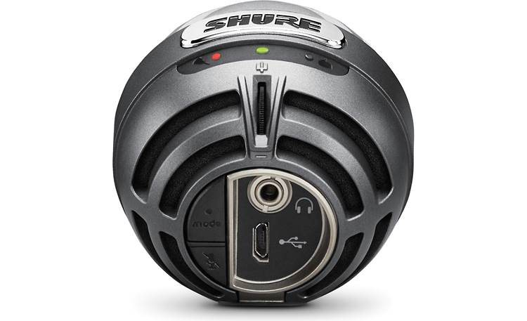 Shure MOTIV™ MV5 Gray with black foam - back