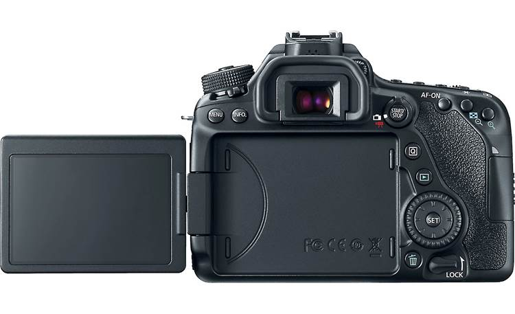 Canon EOS 80D Video Creator Kit EOS 80D back, with vari-angle touchscreen flipped out