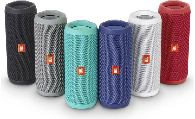 JBL Flip 4 Available in black, gray, teal, blue, white, or red