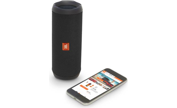 JBL Flip 4 Black - control with free JBL app (smartphone not included)