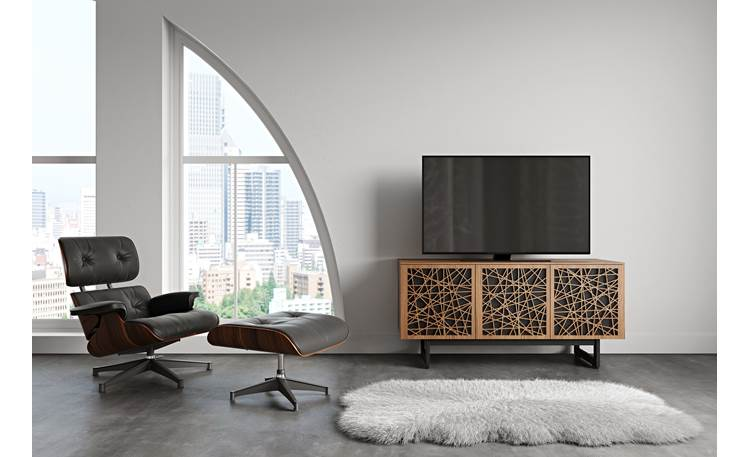 BDI Elements 8777 Natural Walnut w/Ricochet Doors (TV not included)