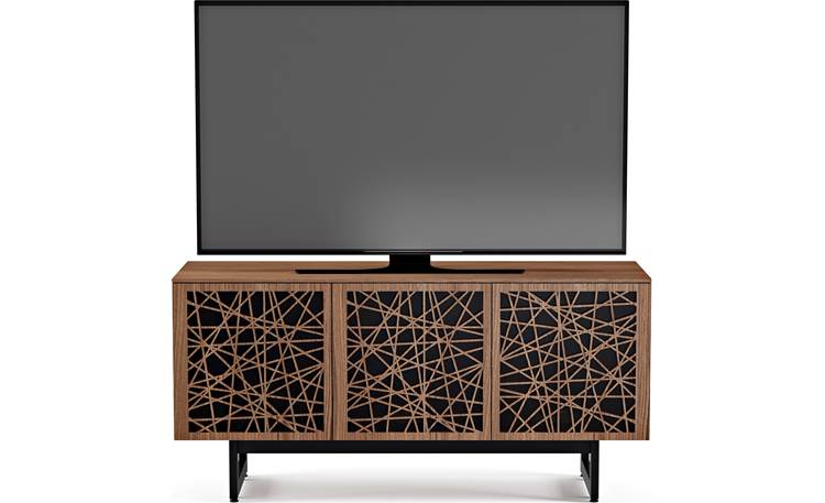 BDI Elements 8777 Natural Walnut w/Ricochet Doors - front (TV not included)