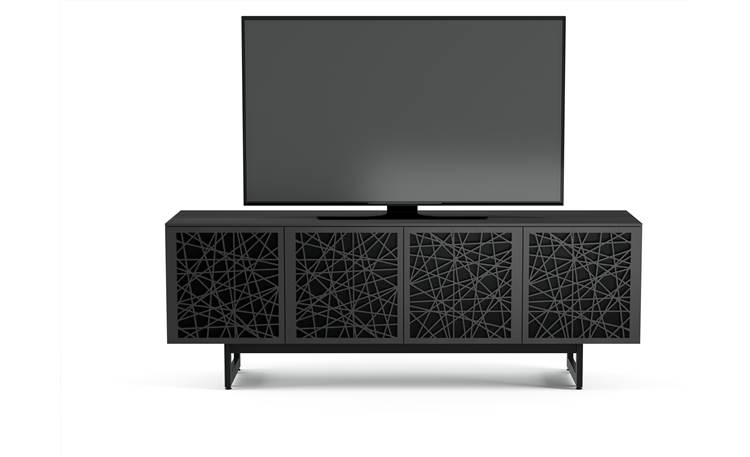 BDI Elements 8779 Charcoal w/Ricochet Doors - front (TV not included)