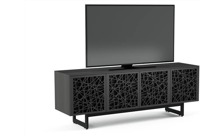 BDI Elements 8779 Charcoal w/Ricochet Doors - left front (TV not included)