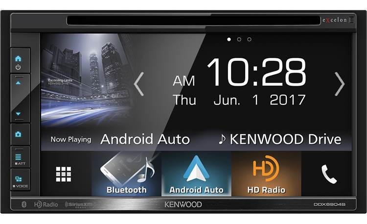 Kenwood Excelon DDX6904S This big-screen Excelon receiver offers Bluetooth, Android Auto, and Apple CarPlay