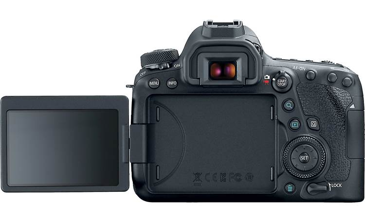 Canon EOS 6D Mark II (no lens included) Back, with touchscreen flipped out