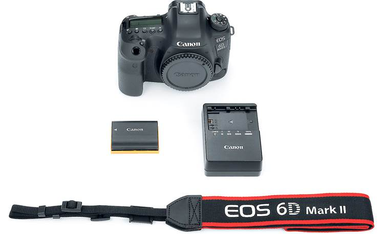 Canon EOS 6D Mark II (no lens included) Shown with included accessories