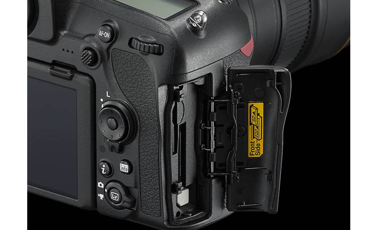 Nikon D850 (no lens included) XQD and SD memory card slots