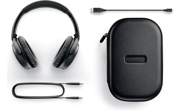 Bose® QuietComfort® 35 wireless headphones II Included case and accessories