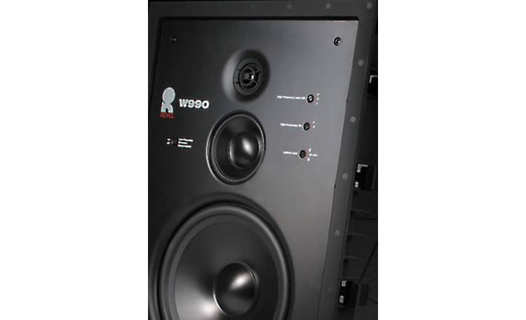 Revel W990 Close-up of drivers and sound-shaping controls