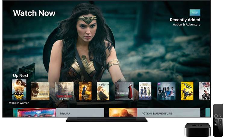 Apple TV 4K Intuitive interface (TV not included)