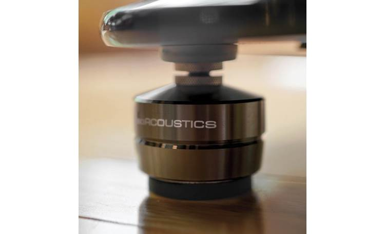 IsoAcoustics GAIA I Optimal results are achieved by installing the isolators with the logo facing the listening position