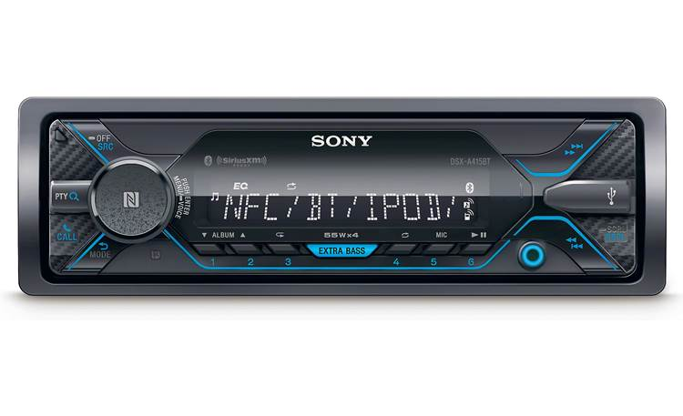 Sony DSX-A415BT With built-in Bluetooth for streaming and FLAC playback via USB among other sources, you'll have lots of music options.
