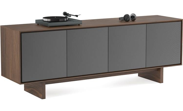 BDI Octave™ 8379GFL Toasted Walnut - left front (turntable and accessories not included)
