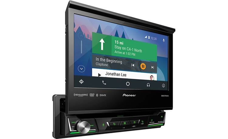 Pioneer AVH-3400NEX Android Auto navigation pictured.