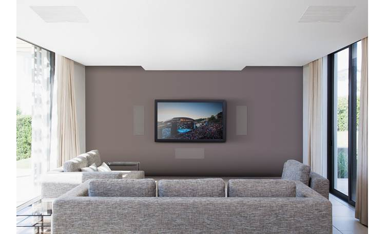 Focal 300 IW6 LCR Shown as part of a complete in-wall home theater