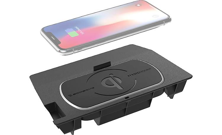 Scosche CRQ01 This Scosche wireless Qi charger fits in the center console location in your vehicle (phone not included)