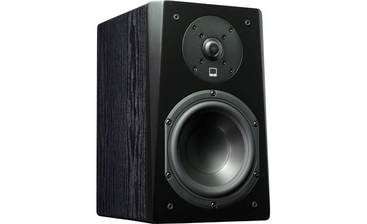 SVS Prime 5.0 Home Theater Speaker System Angled view of bookshelf speaker, grille removed