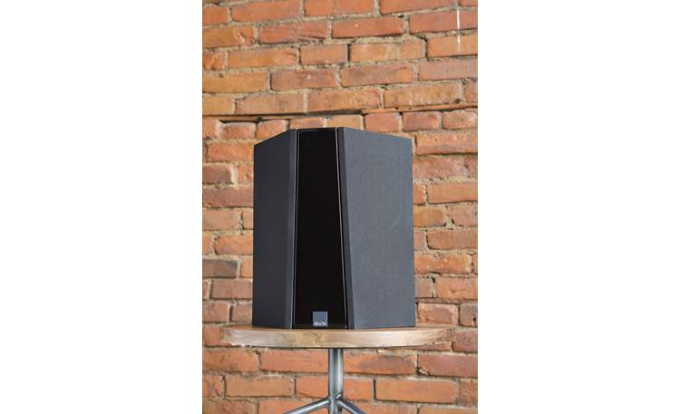 SVS Ultra Bookshelf 5.0 Home Theater Speaker System Ultra surround speaker on a stand