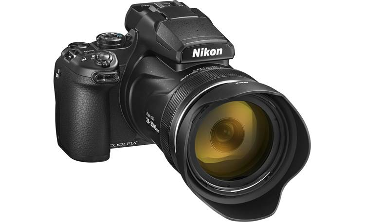 Nikon Coolpix P1000 Shown with included lens hood attached