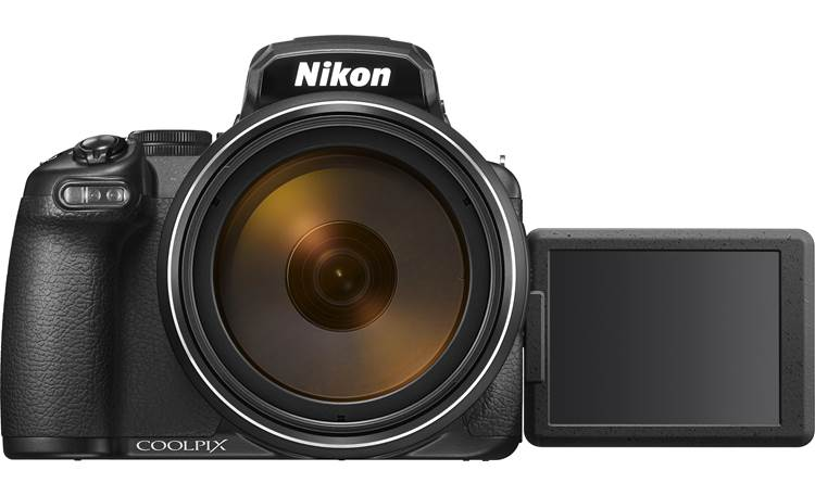 Nikon Coolpix P1000 Shown with LCD screen rotated forward
