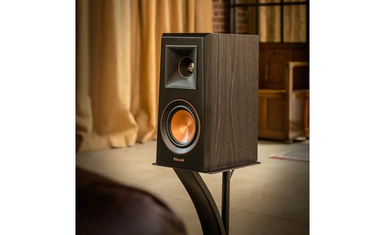 Klipsch Reference Premiere RP-500M Shown individually with grille removed (stand not included)