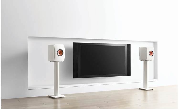 KEF Performance Speaker Stands Shown with speakers (not included)