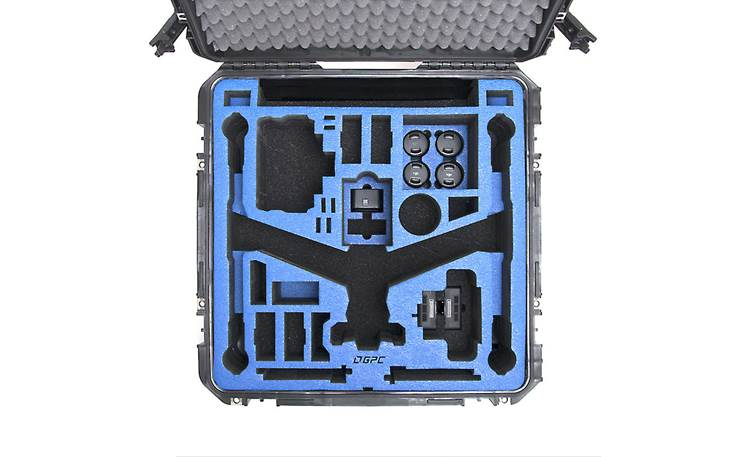 GPC Inspire 2 Travel Mode Case Custom foam-lined interior compartments