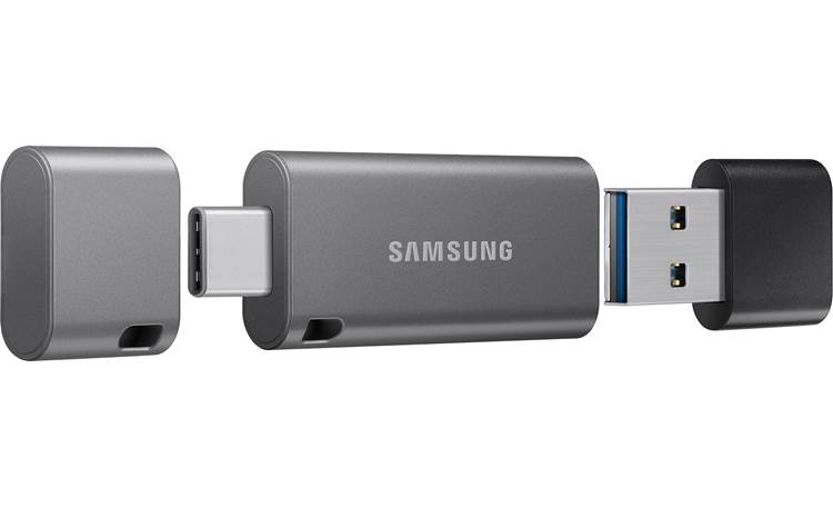 Samsung DUO Plus Flash Drive USB Type-C on one end, Type-A adapter on the other