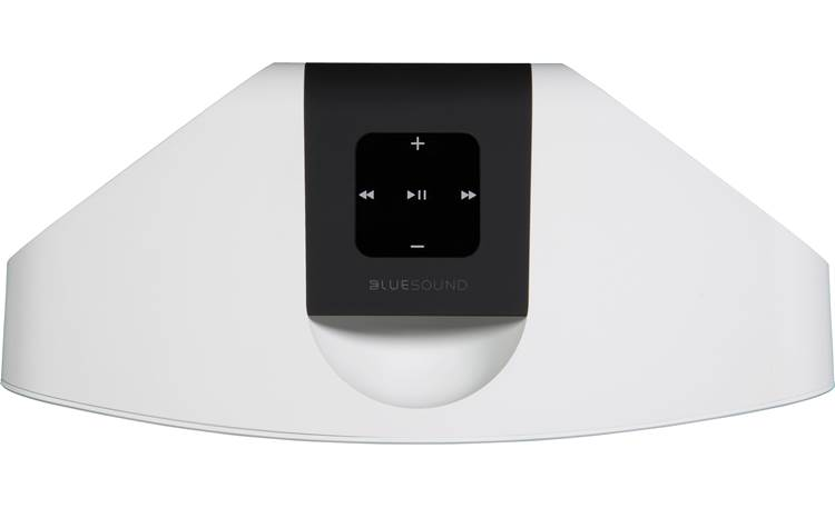 Bluesound Pulse Mini 2i White - top-mounted control buttons