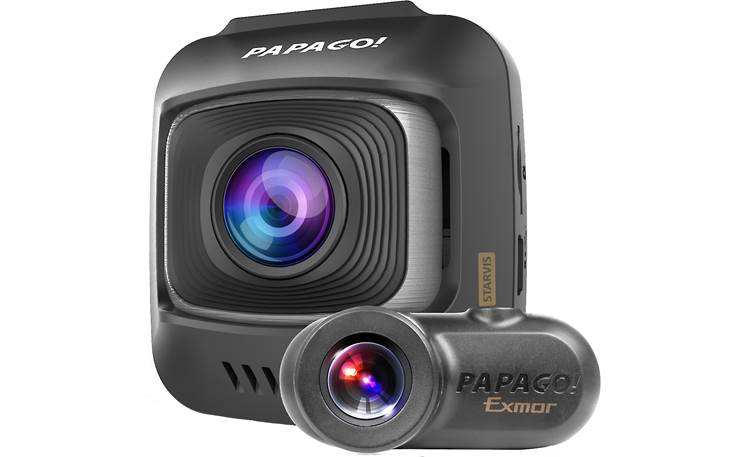 PAPAGO GoSafe S780 Keep an eye on the road ahead... and behind with this dash/rear-view cam combo